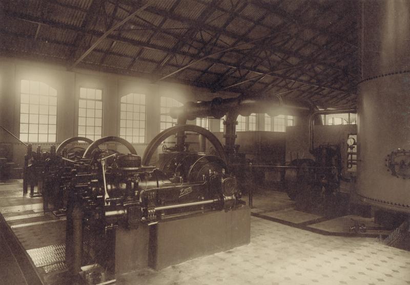 Situación de los motores originales y vista general de la planta en sus origenes