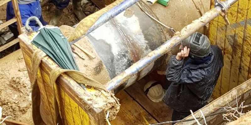 Reparada una fisura en la principal tubería de suministro de A Coruña