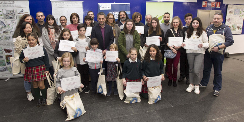 Entrega de premios del VI Certamen de dibujo 'Vida silvestre do encoro de Cecebre'