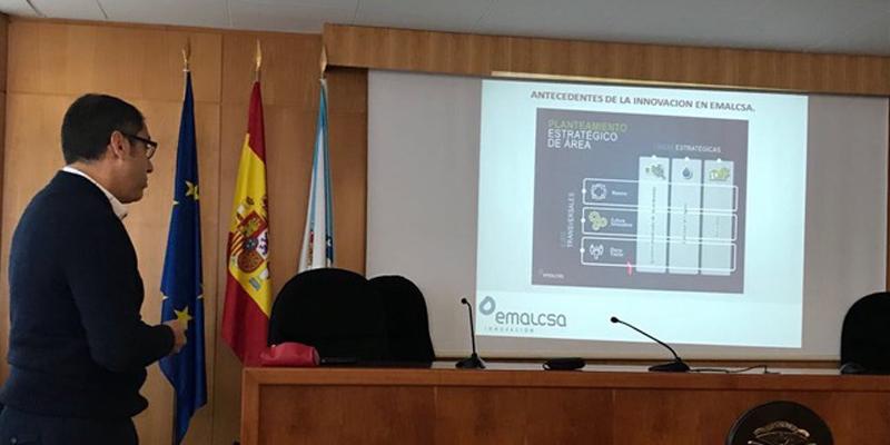 Presentación da Cátedra Emalcsa ante o persoal investigador da UDC