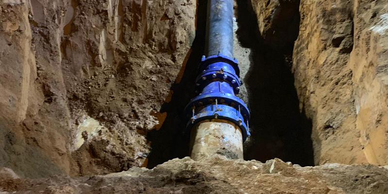 Solucionada unha rotura na condución principal de agua, que afectou aos concellos de Cambre, Oleiros e Culleredo